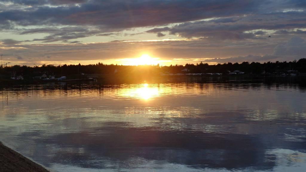 Solnedgang over Sundstrup